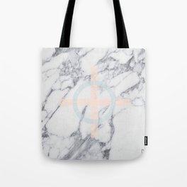 Pastel Cross Tote Bag