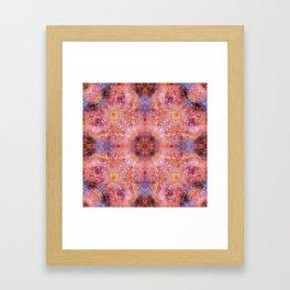 Cosmic Light Mandala Framed Art Print