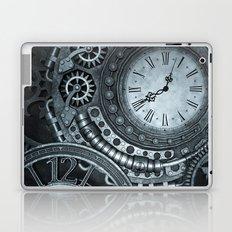 Silver Steampunk Clockwork Laptop & iPad Skin
