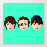 chvrches Canvas Prints featuring Lauren Mayberry by incognek0