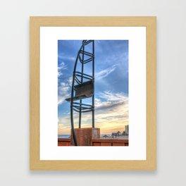 Steel sail Framed Art Print