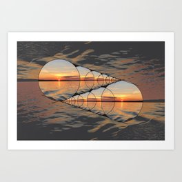 Infinite Sunsets on a Finite Horizon Art Print