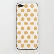 Glittering Gold Dots iPhone & iPod Skin