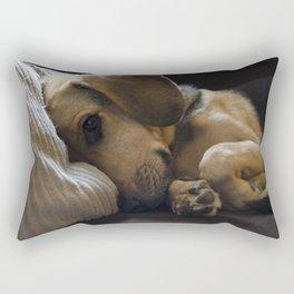 Sleepy Dog Rectangular Pillow