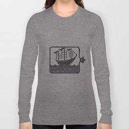 A Ship In A Bottle Long Sleeve T-shirt