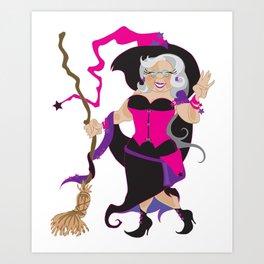 Granny Hex (Purple) Art Print