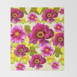 SPRING FLOWERS ART Throw Blanket