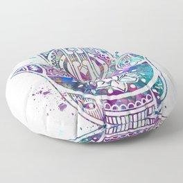 Hamsa Hand Watercolor Poster Wedding Gift Floor Pillow