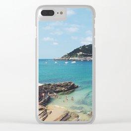 Summer in Donosita San Sebastian Spain Beach 2 Clear iPhone Case
