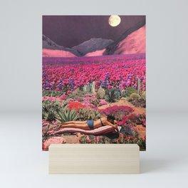 Purple moon bather Mini Art Print