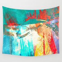 surfing Wall Tapestries featuring Surfing by Fernando Vieira