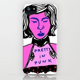 Pretty in Punk iPhone Case