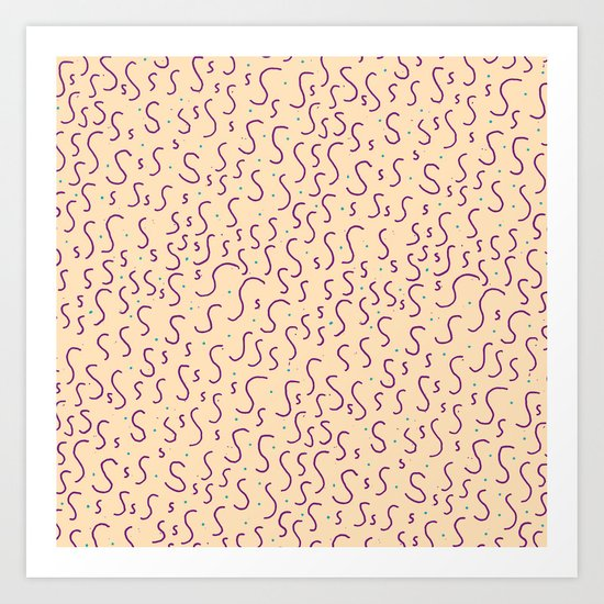 Letter Patterns, Part S Art Print