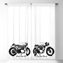 HAPPY BIKING TO ALL CLASSIC CAFE RACER BIKERS,GIFT WRAPPED FOR  2021 Blackout Curtain