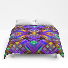 Colorful digital art splashing G480 Comforters