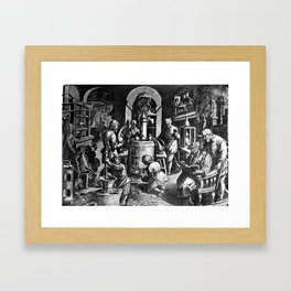 Alchemical Laboratory Framed Art Print