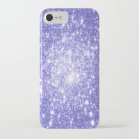 lavender iPhone & iPod Cases featuring Lavender Periwinkle Sparkle Stars by Whimsy Romance & Fun