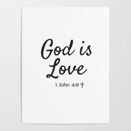 God is Love - Religious Art Poster
