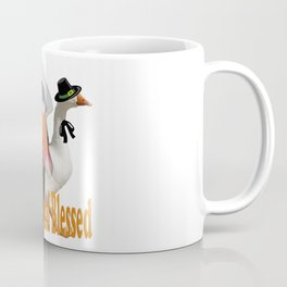 Thankful and Blessed Thanksgiving Pilgrims Coffee Mug