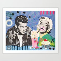 Marilyn vs James D Art Print