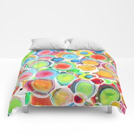 Sunshine on Your Spotty Mind (Alcohol Inks Series 07) Comforters