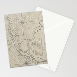 Vintage Map of The Florida Keys (1771) (2) Stationery Cards