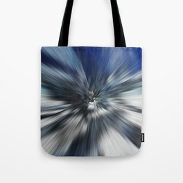 Abstract Black And Blue Starburst Tote Bag