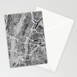 New York City Street Map Stationery Cards