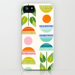 Sugar Blooms - Abstract Retro Inspired Design iPhone Case