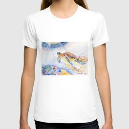 Going Up Sea Turtle T-shirt