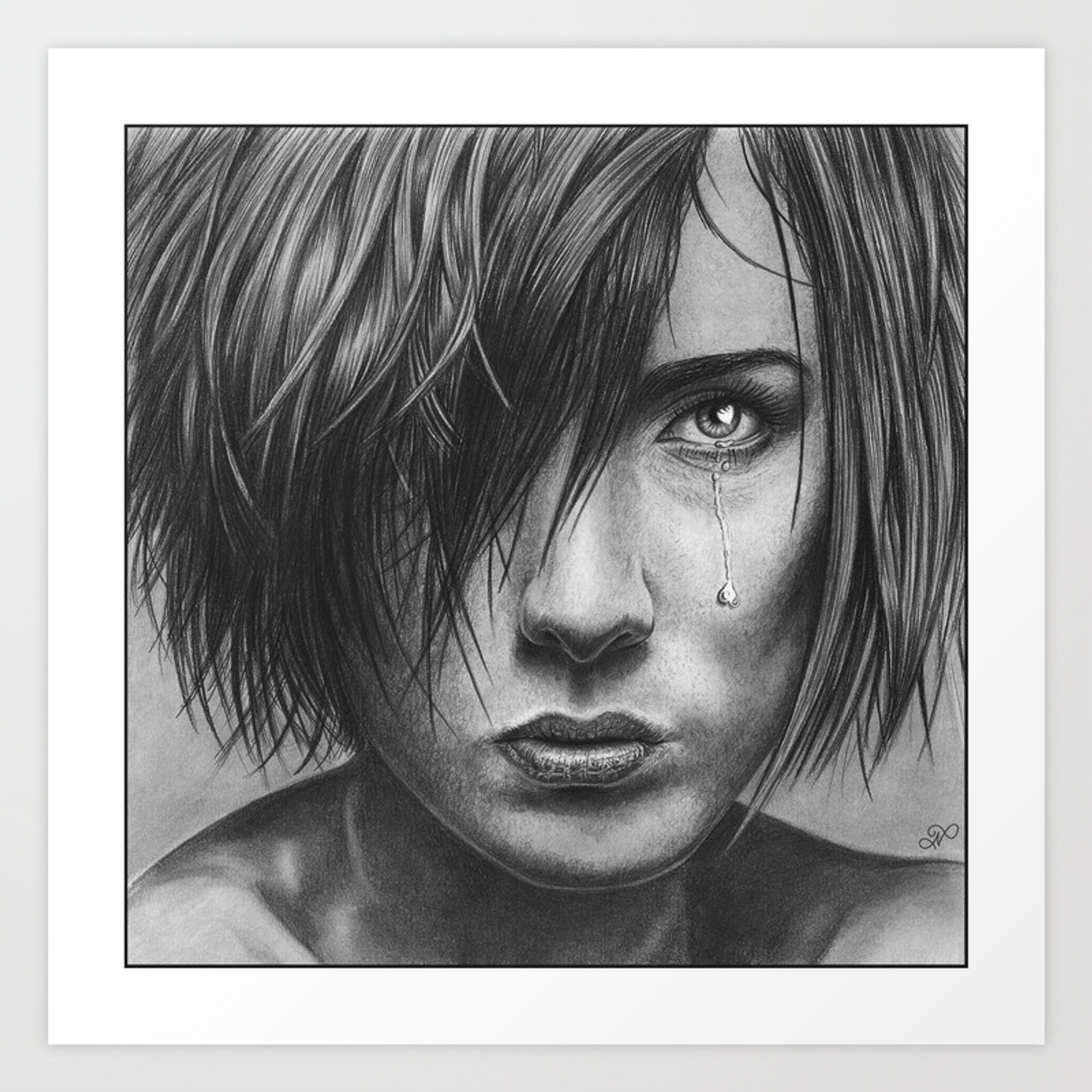 Love hurts pencil drawing art print