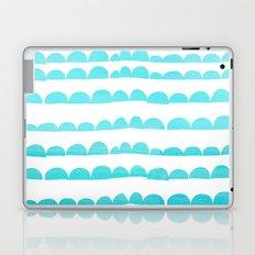 Handdrawn pattern in aqua on white Laptop & iPad Skin