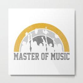 Master Of Music  TShirt Graduation Class Shirt Degree Gift Idea Metal Print
