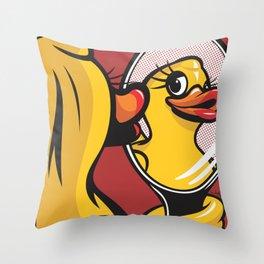 Duck Face Throw Pillow