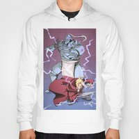 fullmetal Hoodies featuring Fullmetal Brothers by The Sketchy Corner - Ian Moir