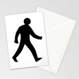 Walking Man Silhouette Stationery Cards