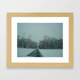 Snow Day Framed Art Print