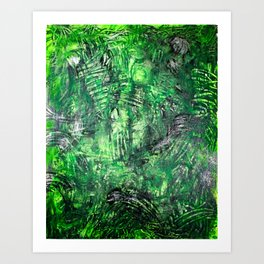 Simulated Valley Of The Brain Forests Art Print
