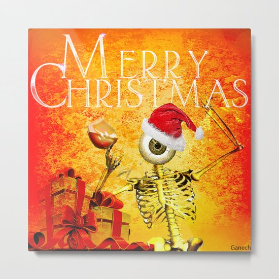 Merry Christmas Monsieur Bone  Metal Print