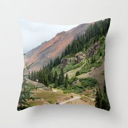 Road to the Longfellow Mine, elevation 11,080 feet Throw Pillow
