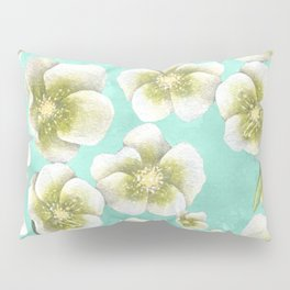 Blue, yellow and white flowers Pillow Sham