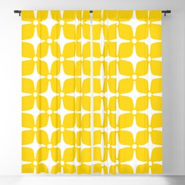Mid Century Modern Star Pattern Yellow 2 Blackout Curtain