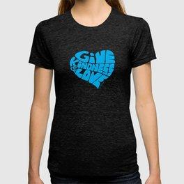 GIVE KINDNESS & LOVE - light blue T-shirt