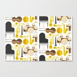 Jazz instruments Canvas Print