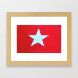 House flag, White Star Line Framed Art Print