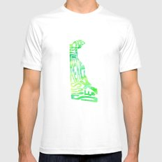Typographic Delaware - green watercolor White Mens Fitted Tee MEDIUM