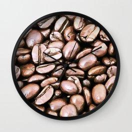 roasted coffee beans texture acrstd Wall Clock