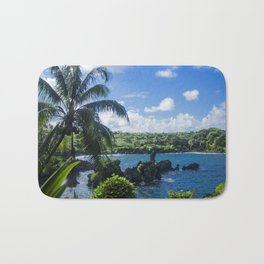 Black Sand Beach, Hawaii Bath Mat