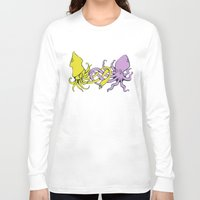 valentines Long Sleeve T-shirts featuring undersea valentines by Ham Pattie