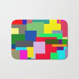 Colorful Squares Bath Mat